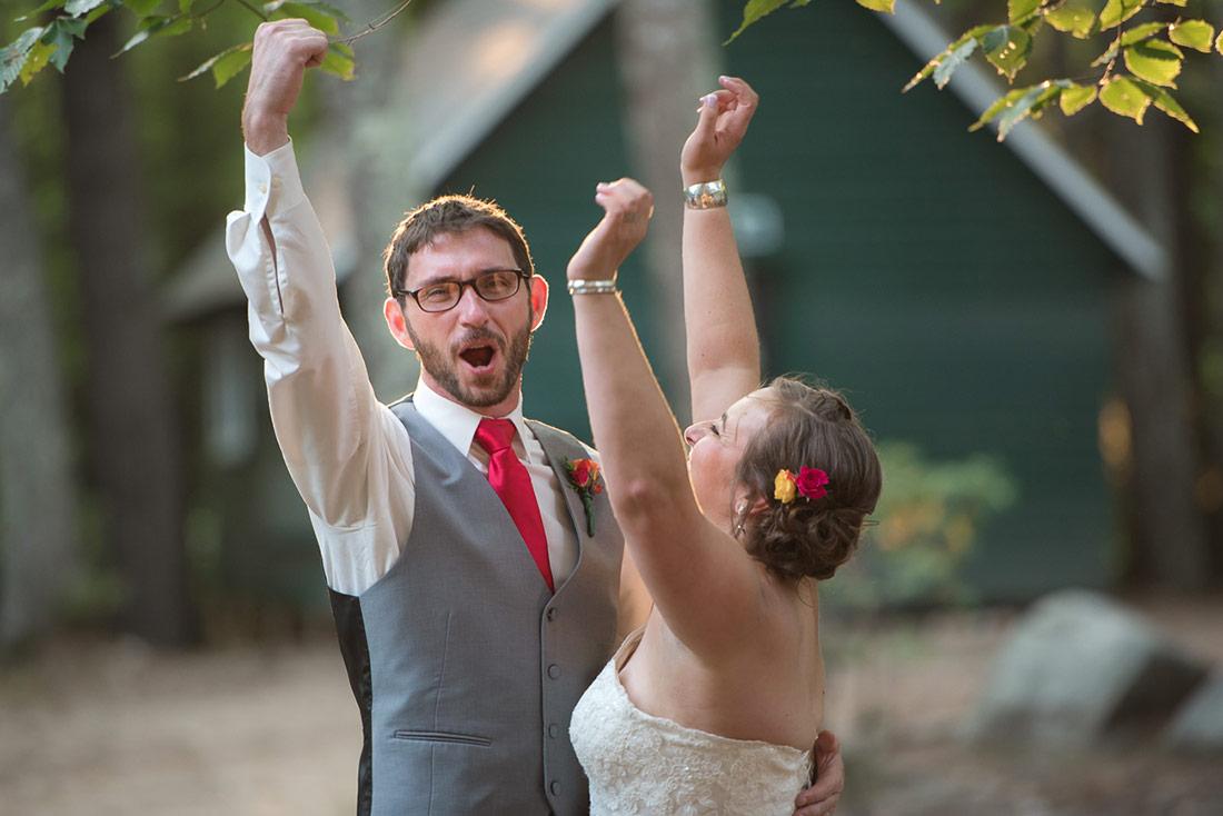 camp wedding celebration