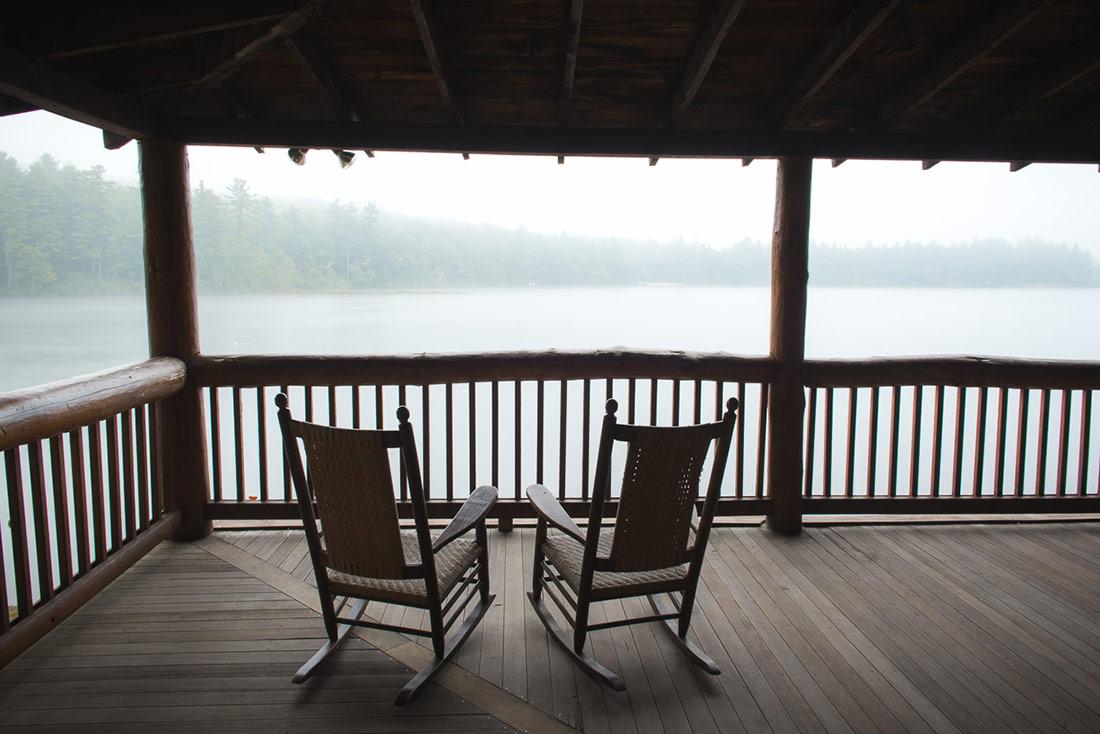 lake view at camp takodah wedding