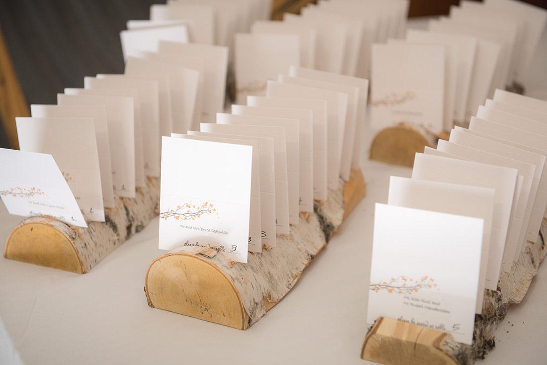 wooden wedding details