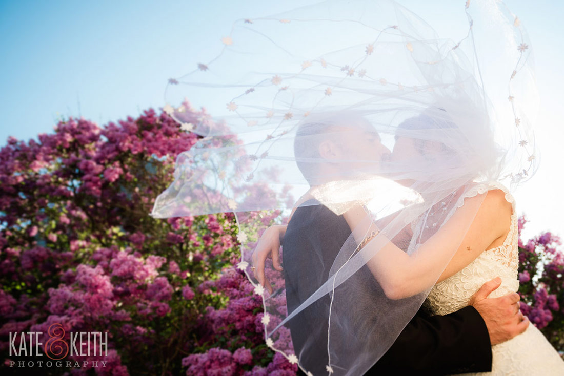 Bride and groom during a NH Seacoast Wedding