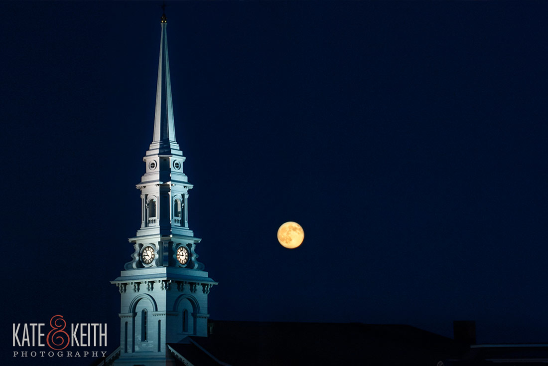 full moon north church portsmouth NH