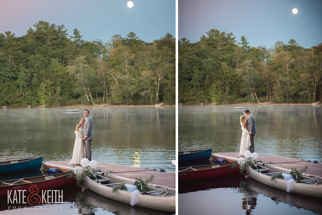 Bride And Groom Full Moon At Camp Waziyatah Wedding