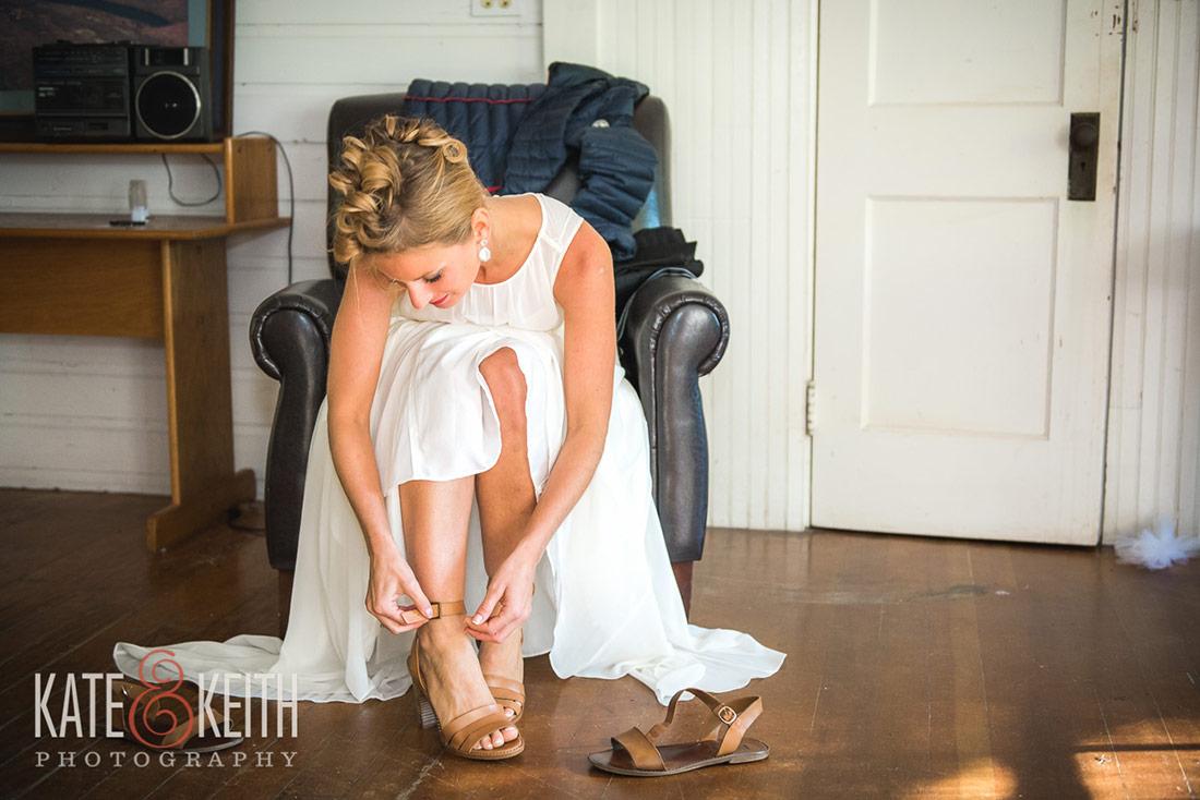 summer camp wedding preparation