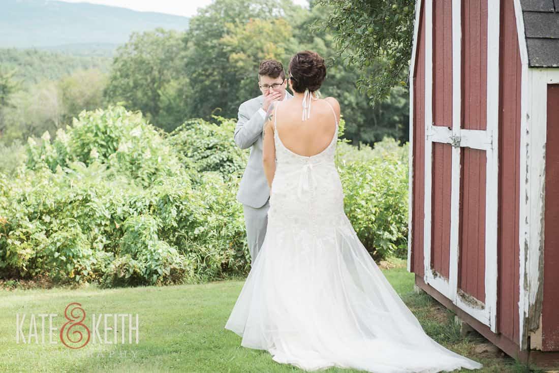 First look at gay wedding at Monadnock Berry Farm