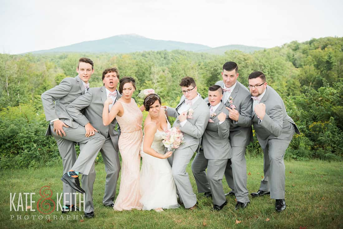 Awesome wedding party in NH