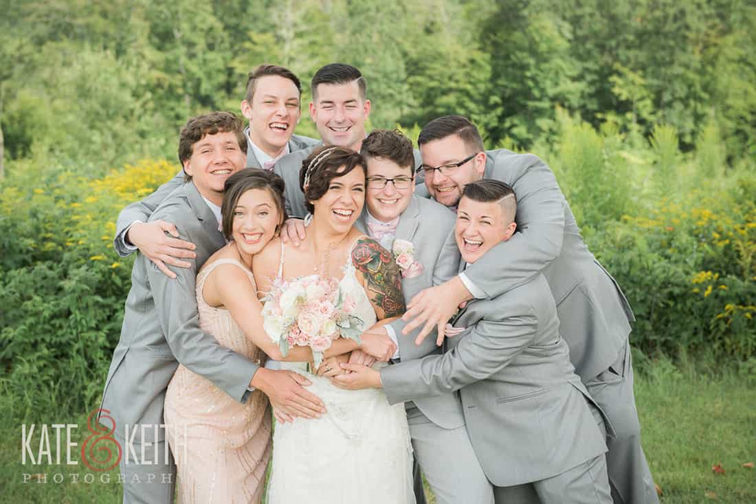 Happy wedding party in NH