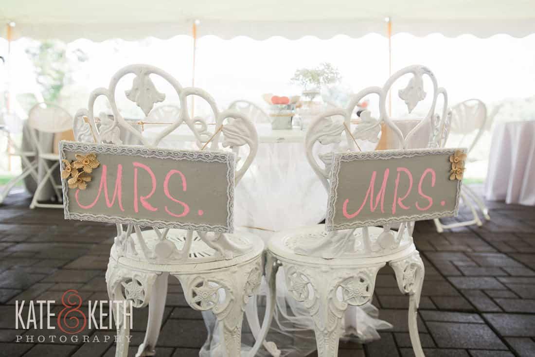 Mrs. and Mrs. wedding seats